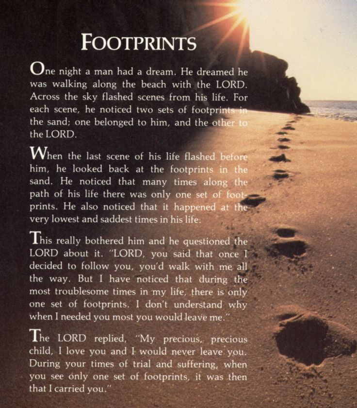 Image result for footprints in the sand