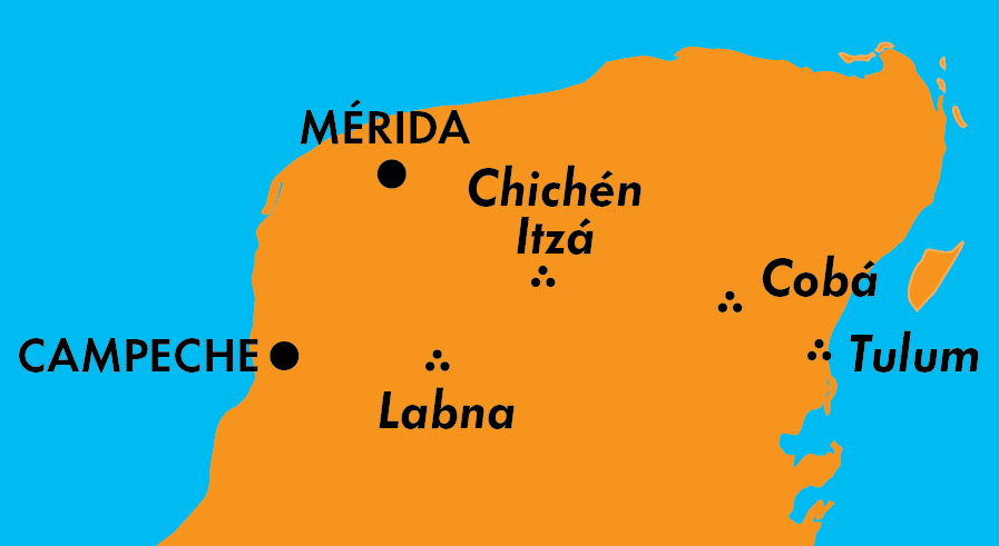 map of the Yucatan Peninsula