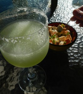 marinated queso fresco with a  Margarita