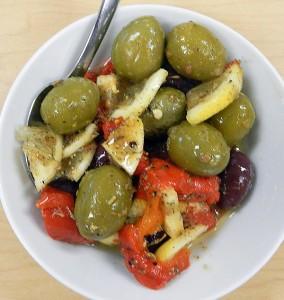 lemon marinated olives