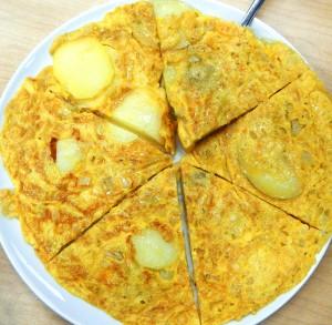 Spanish tortilla, an egg and potato omelette