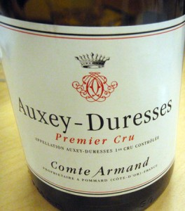 the Burgundy Wine to accompany the main course