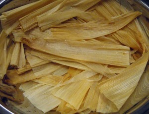 soak the corn husks for about an hour