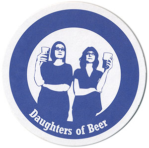 the 'coaster' business card for the Daughters of Beer