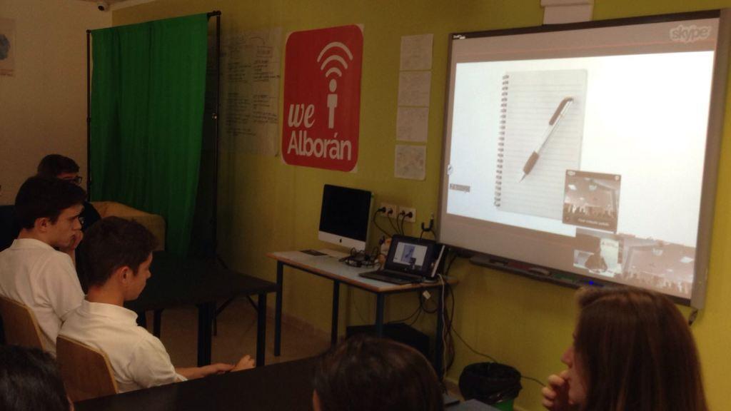 Alumnos del SEK Alborán en el taller online impartido por la UCJC