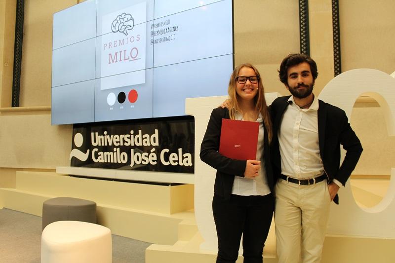 Claudia Jimeno y Nacho Hernández, presentadores de la primera edición de los Premios Milo