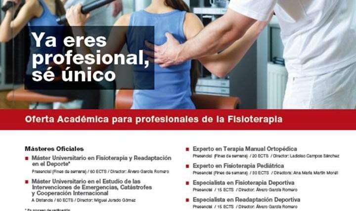 Master y Programas de Postgrado para los Fisioterapeutas