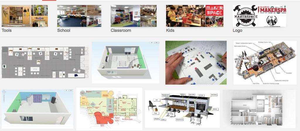 Captutra de algunos ejemplos de Maker Spaces
