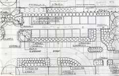 Southwest Corridor landscaping plan, 1970s