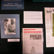 This exhibition features archival materials such as newsletters, photographs, flyers, and more, that document the early years of the Writers' Workshop, as well as more recent activities of the Workshop.