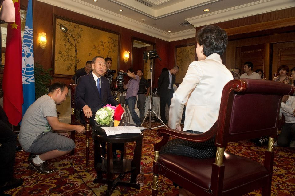 More than 20 million people tuned in to watch Ban Ki-moon on Weibo