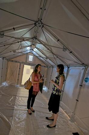 At the ECOSOC Humanitarian Fair in Geneva earlier this month, the UN Refugees Agency presented these prototype solar-powered shelters to the audience. Thanks to UNHCR United Kingdom (@UNHCRUK) for posting this and more on their Twitter account.