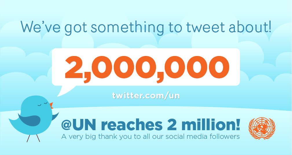 Thank you to our 2 million Twitter followers around the world!