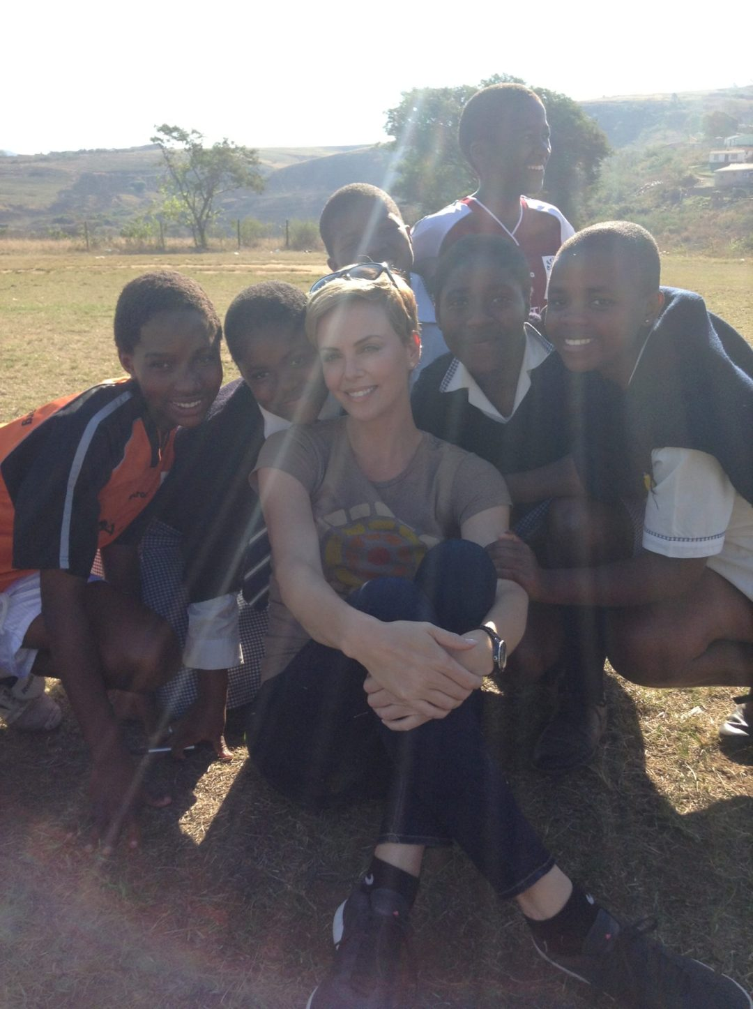 August 2013 visiting the WhizzKids United in Edendale, South Africa. Credit : Pati Dubroff