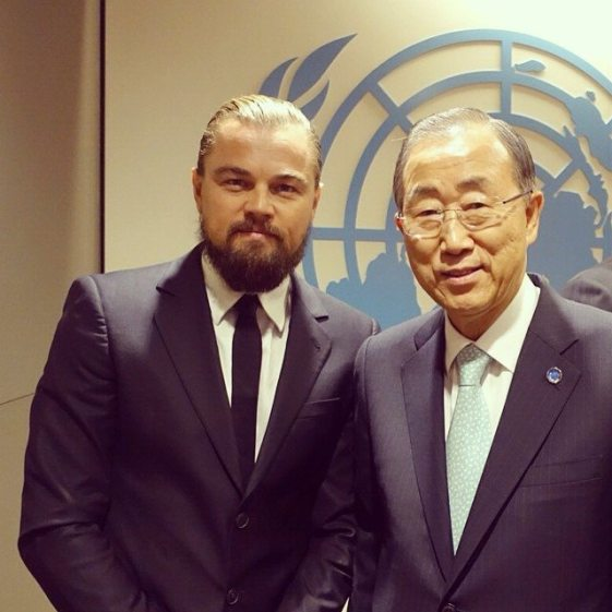 New Messenger of Peace Leonardo Di Caprio posted his first-ever photo on Instagram of his meeting with UN Secretary-General Ban Ki-moon