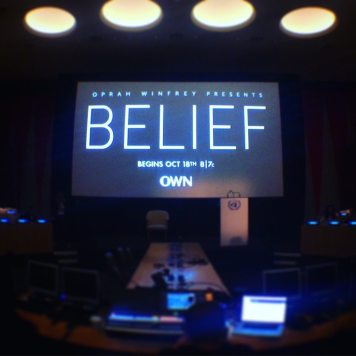 Belief film screening at the UN. Photo credit: Isabella Poeschl, UN Social Media Team
