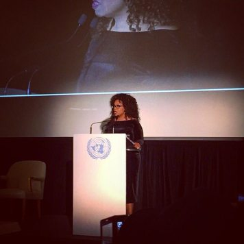 Oprah Winfrey at the United Nations. Photo credit: Isabella Poeschl, UN Social Media Team