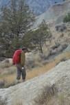 Nick exploring the outcrops at Bull Canyon