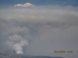 Wildfire plume #2 at MBO, September 2012