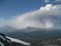 Wildfire plume at MBO, September 2012