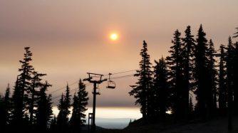 Mt. Bachelor Observatory sunset, August 2016