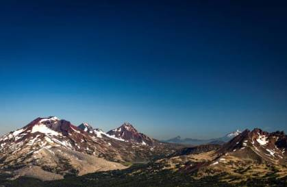 Mountain view from Mt. Bachelor, July 2019