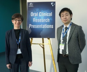 Diane Daubert and Mitch Katafuchi at the AO meeting