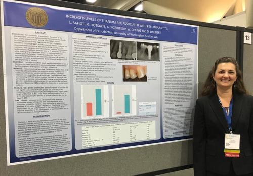 Dr. Luciana Safioti with her winning poster at the 2016 AAP meeting