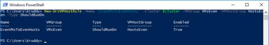 Creating a VM-Host Rule