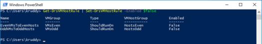 Modifying VM Host Rules
