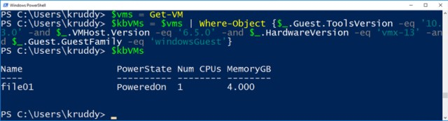 View only potentially impacted VMs