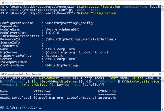 Example: Post DSC Configuration Status