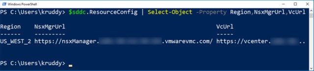 Additional SDDC Object Information