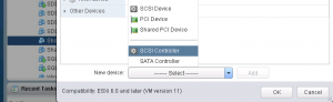 Add SCSI Controller