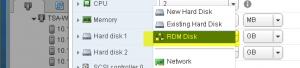 Add RDM Disks