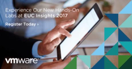 VMware EUC Insights 2017 online event hands on labs horizon airwatch workspace one app volumes