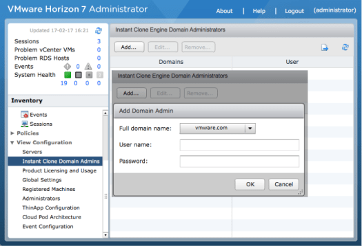 Instant-clone-domain-admin