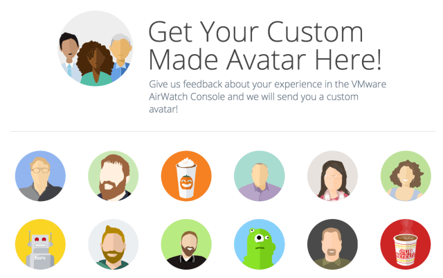 vmware custom made avatars