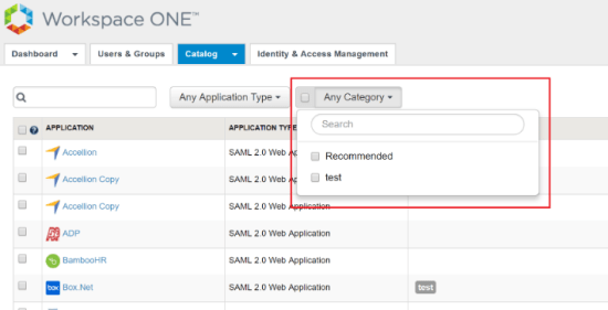 VMware_Identity_Manager_filter_apps_category