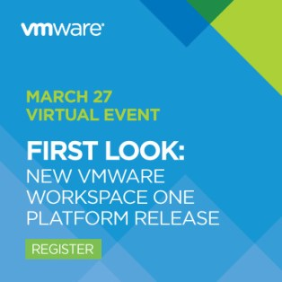 Join VMware EUC online for a first look at the new VMware Workspace ONE platform release.