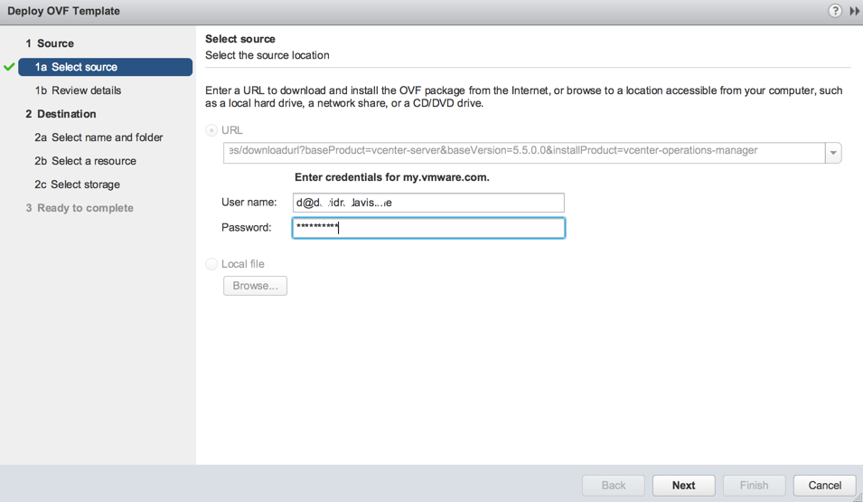 Vmware Ovf Template  setting up vcloud connector in your local