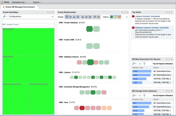 Oracle Enterprise Manager EM Environment Dashboard from Blue Medora