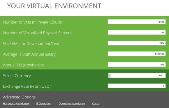 vRealize Suite ROI Calculator 2