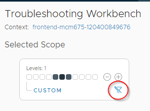 Remove the custom scope filter by clicking the funnel icon