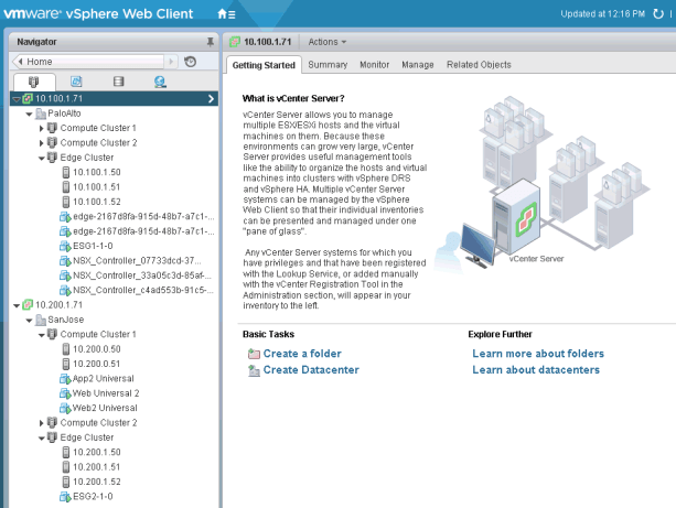 Figure 4: PSC Introduced in vSphere 6.0 Allows for Enhanced Link Mode as Shown Here