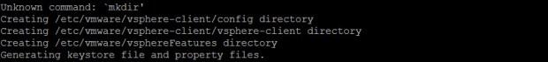 vSphere HTML5 Web Client VCSA Error