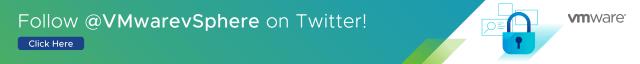Follow @VMwarevSphere on Twitter