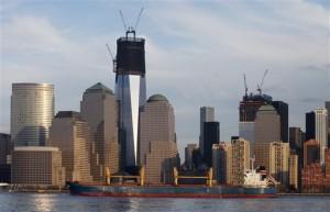 One World Trade Center as of January.  (AP Photo/Mark Lennihan)