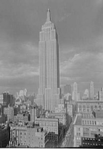 The Empire State leviathan seen two years later, in 1934.  (Library of Congress)