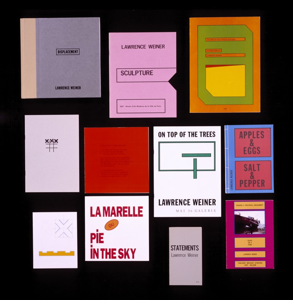 Books by Lawrence Weiner from the Rosemary Furtak Collection, Walker Art Center Library